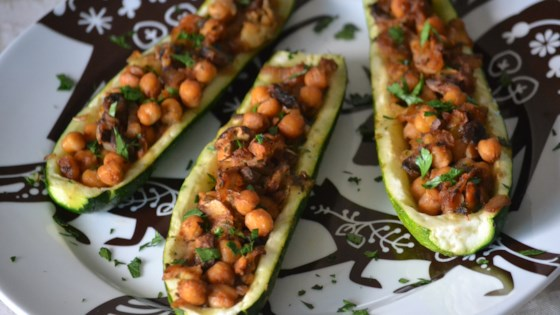 zucchini with chickpea