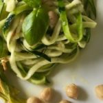 How To Make Vegan Zucchini Noodles with Chickpeas and Zucchini Blossoms Recipe