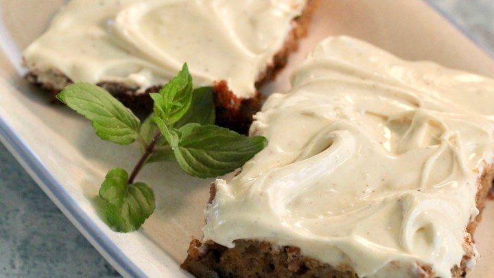 How To Make Zucchini Bars with Spice Frosting