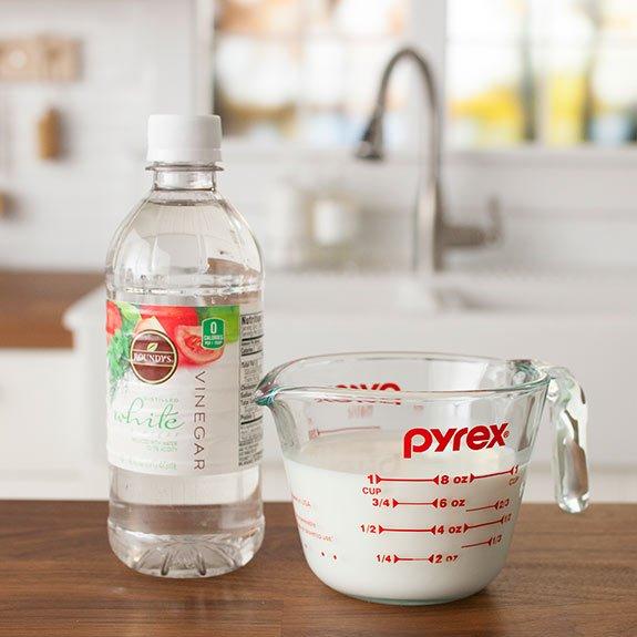 make buttermilk with vinegar